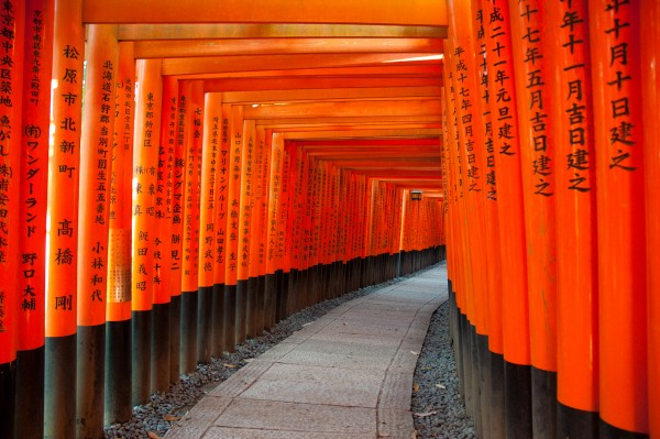 I mille torii rossi del Fushimi Inari Taisha, a Kyoto