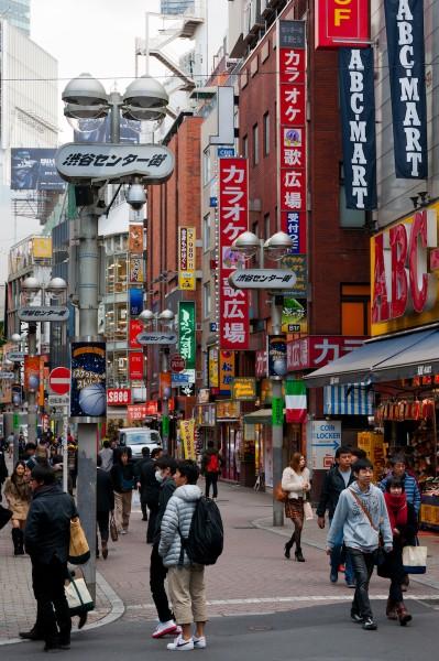 Le strade di Shibuya, a Tokyo.